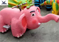 Simulation Mini Pink Elephant Motorized Animal Scooters Electronic Game Center Toy