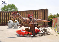 Outside Ride On Walking Dinosaur , Person Riding Dinosaur 4 Meters Long